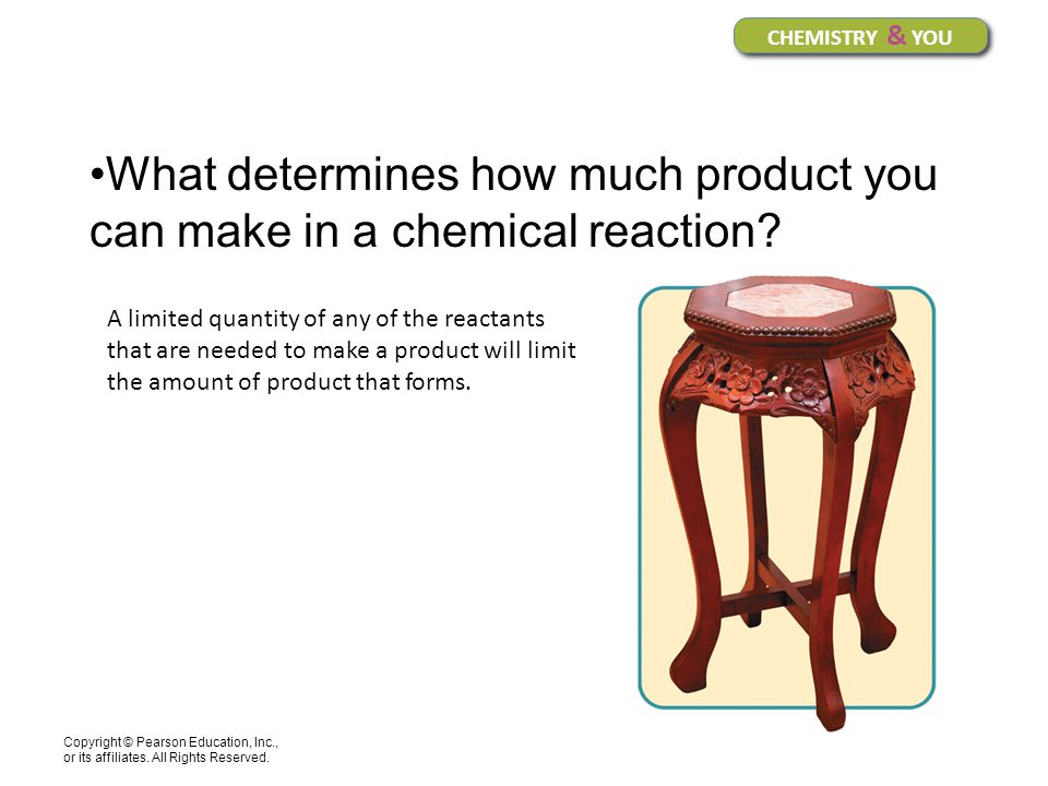 What determines how much product you can make in a chemical reaction