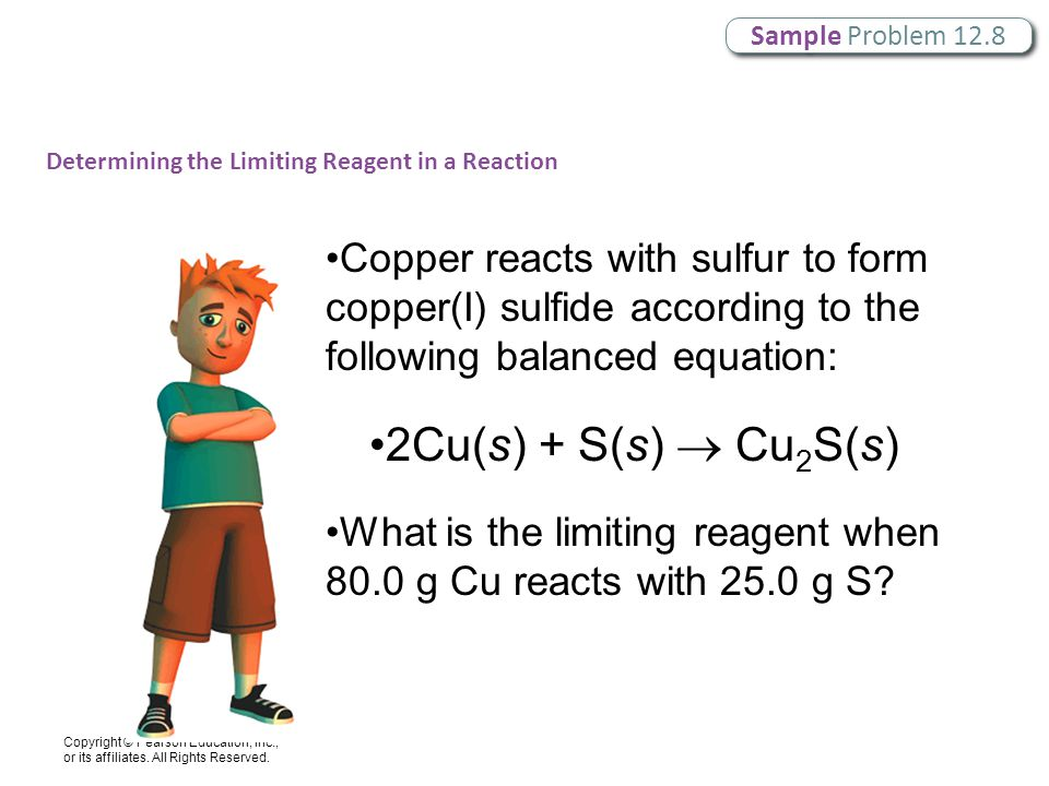 Sample Problem 12.8 Determining the Limiting Reagent in a Reaction.