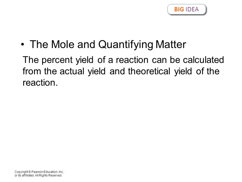 The Mole and Quantifying Matter
