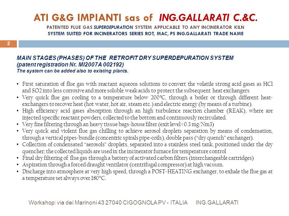 ATI G&G IMPIANTI sas of ING. GALLARATI C. &C