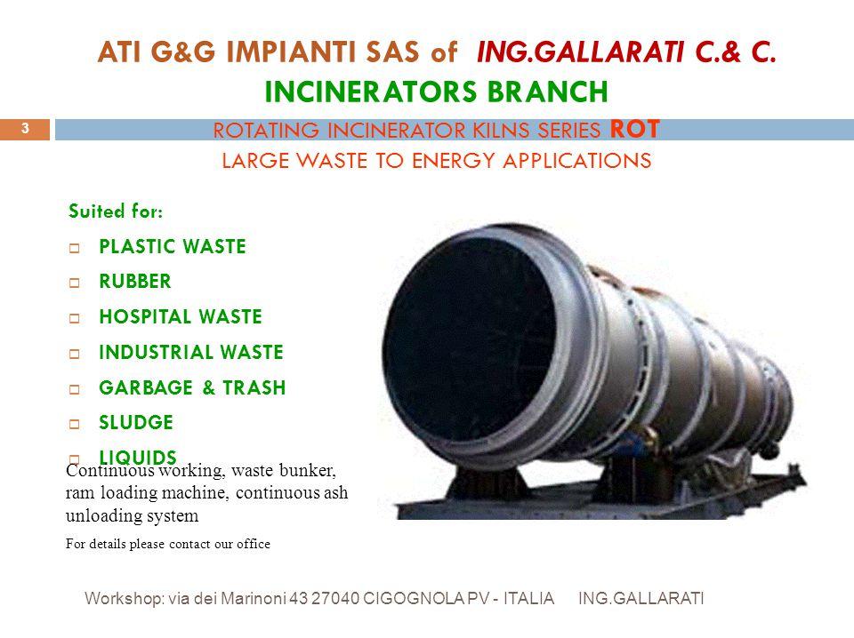 ING.GALLARATI - via dei Marinoni 68/70 - 27040 CIGOGNOLA PV - ITALY