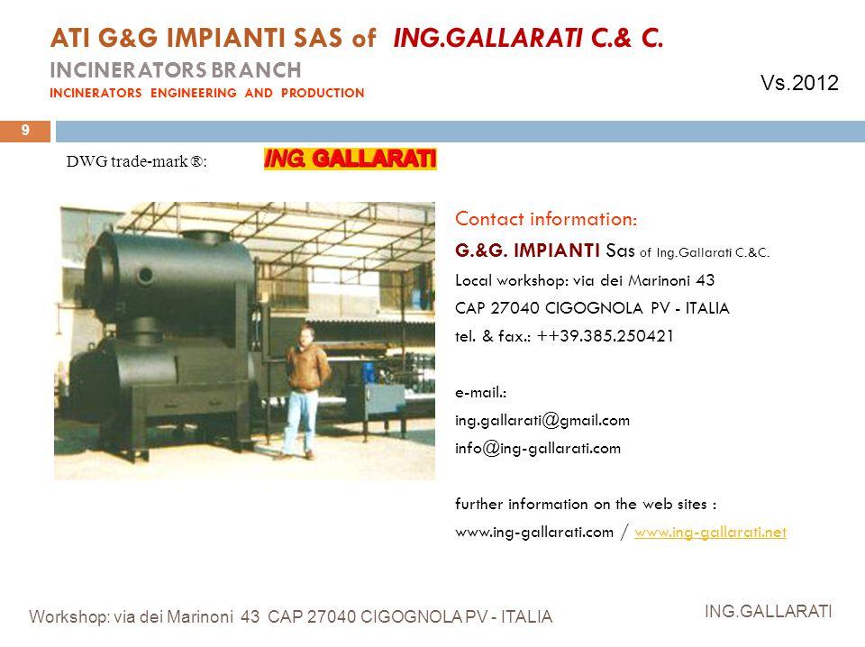 ATI G&G IMPIANTI SAS of ING. GALLARATI C. & C