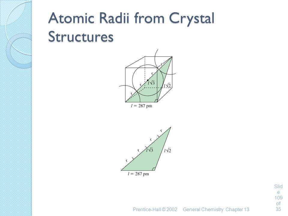 Atomic Radii from Crystal Structures