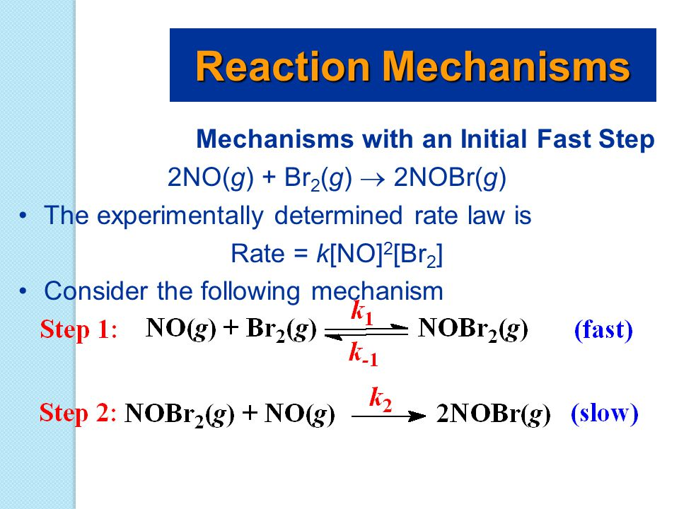 Reaction Mechanisms Mechanisms with an Initial Fast Step