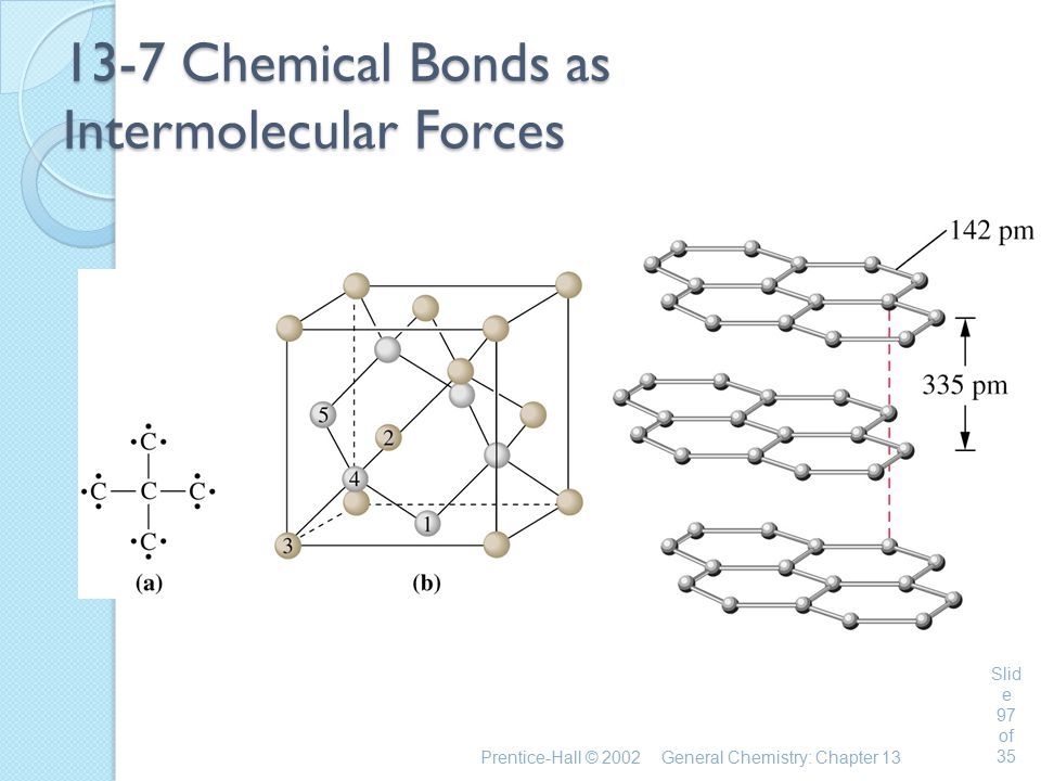 13-7 Chemical Bonds as Intermolecular Forces