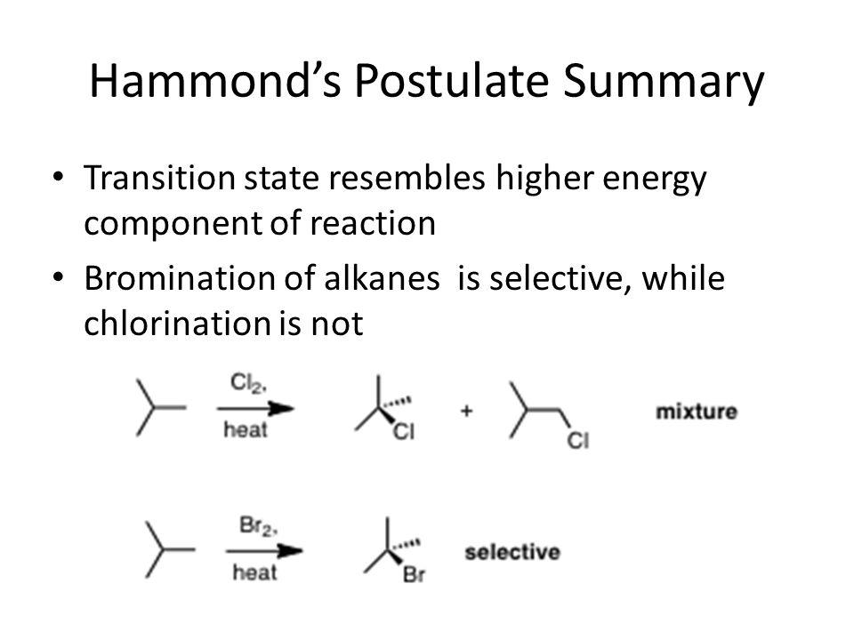 Hammond's Postulate Summary