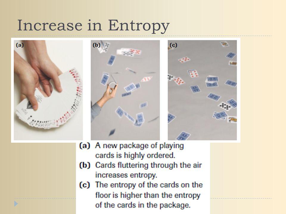 Increase in Entropy