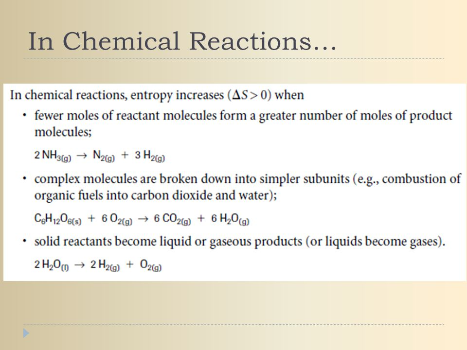 In Chemical Reactions…