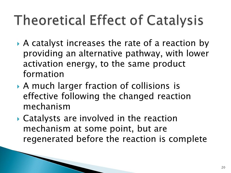 Theoretical Effect of Catalysis