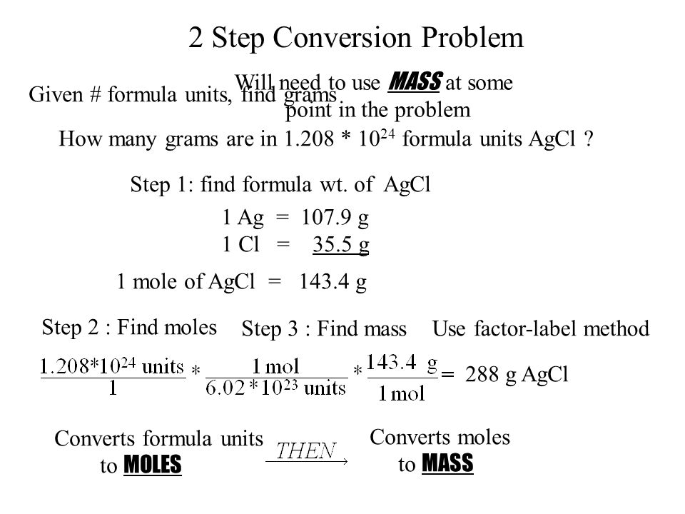 2 Step Conversion Problem