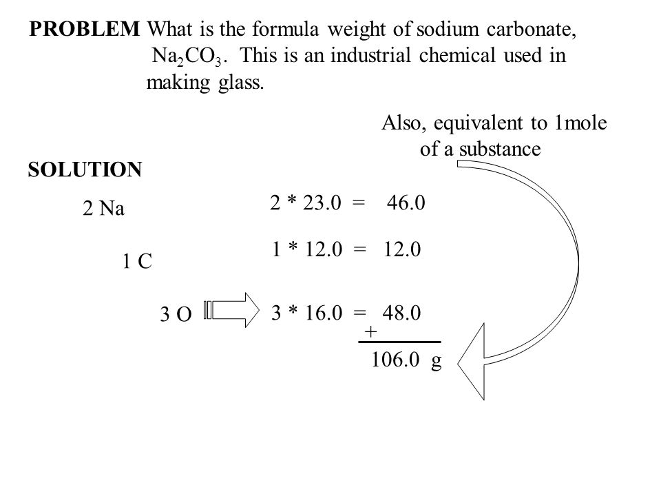 What is the formula weight of sodium carbonate,