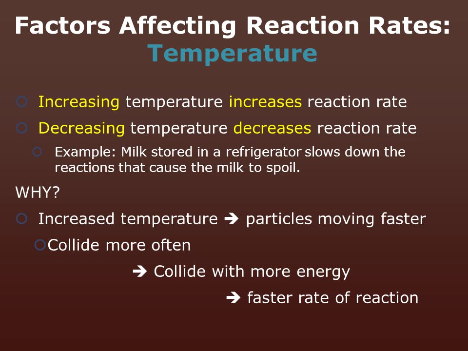 Factors Affecting Reaction Rates: Temperature