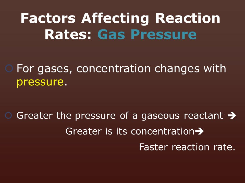 Factors Affecting Reaction Rates: Gas Pressure