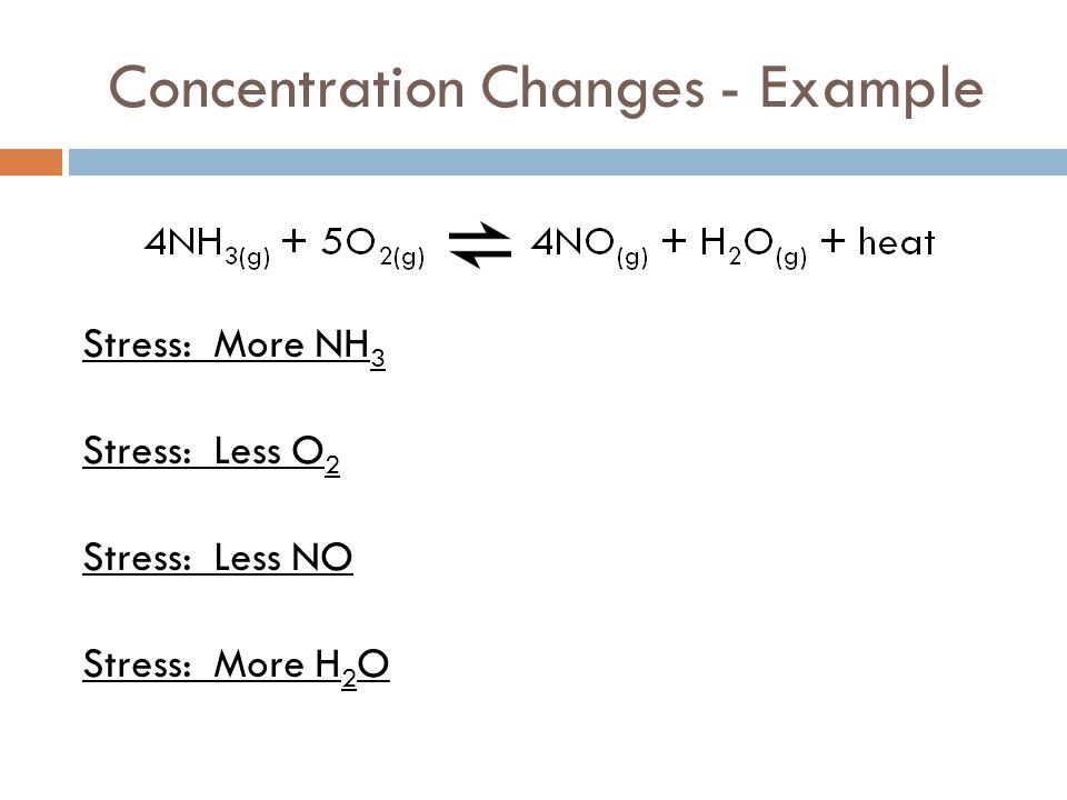 Concentration Changes - Example