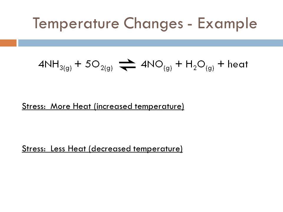 Temperature Changes - Example