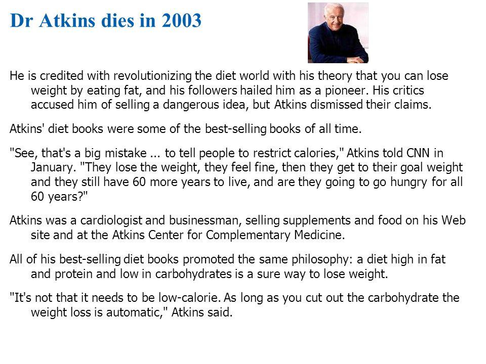 Dr Atkins dies in 2003