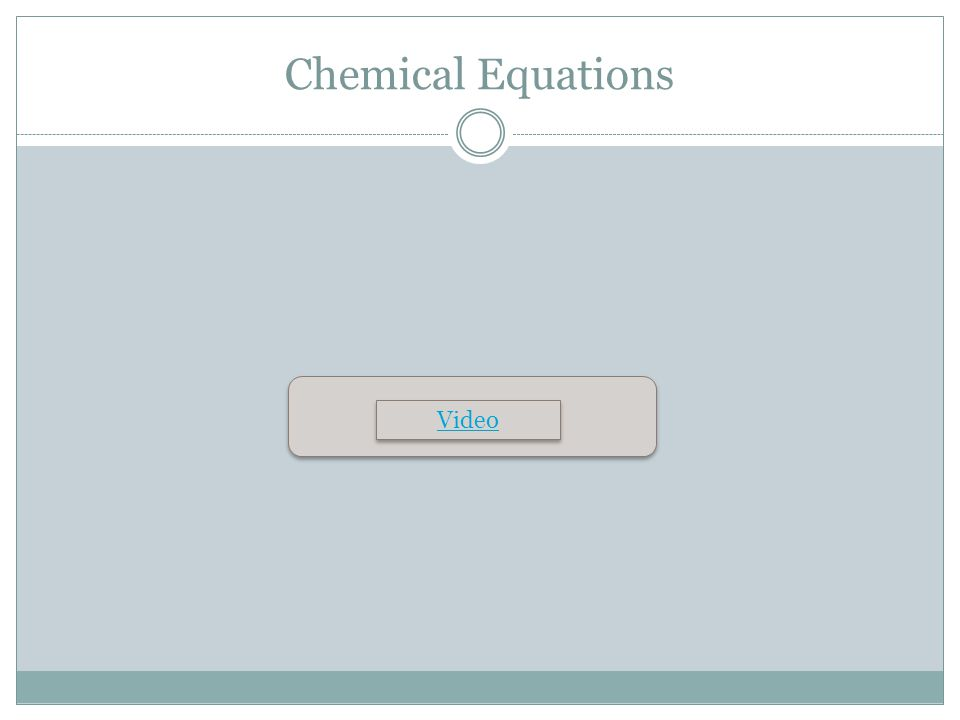 Chemical Equations Video