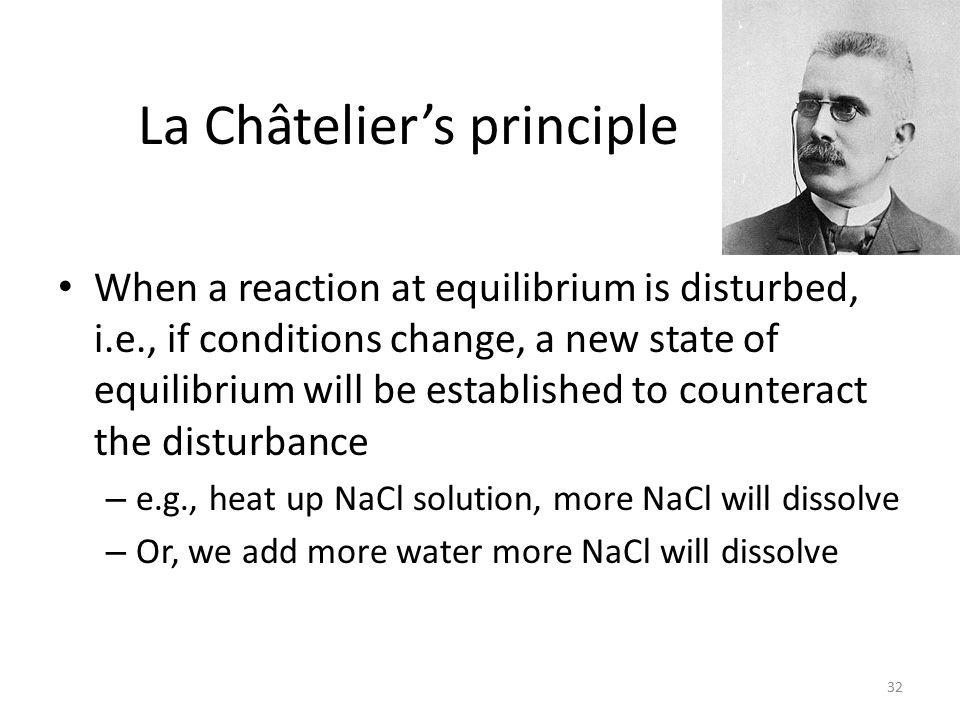 La Châtelier's principle
