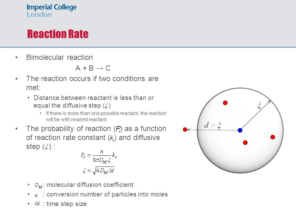 Reaction Rate Bimolecular reaction A + B → C