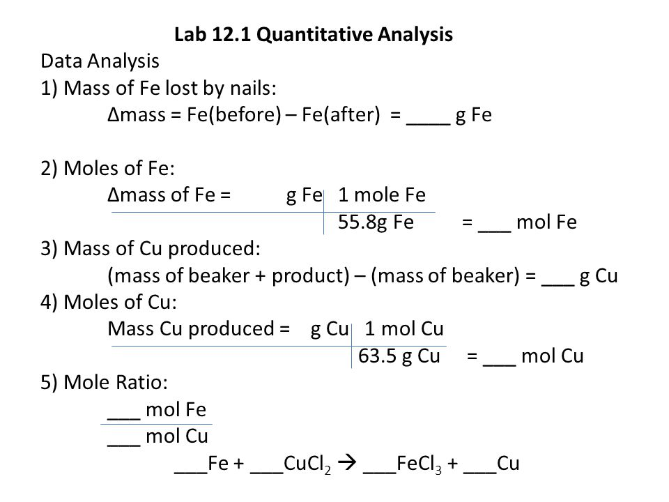 Lab 12.1 Quantitative Analysis