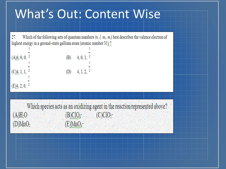 What's Out: Content Wise