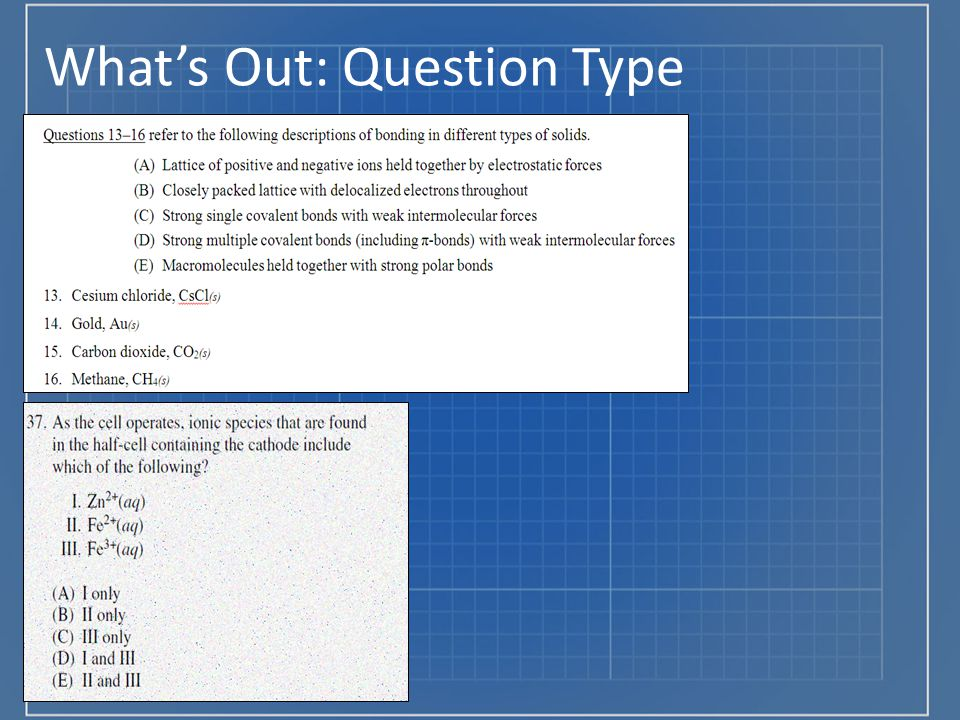 What's Out: Question Type