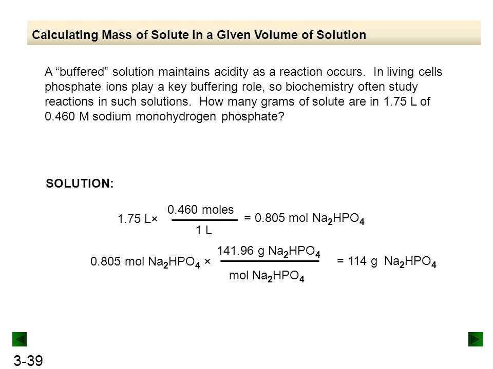 Calculating Mass of Solute in a Given Volume of Solution