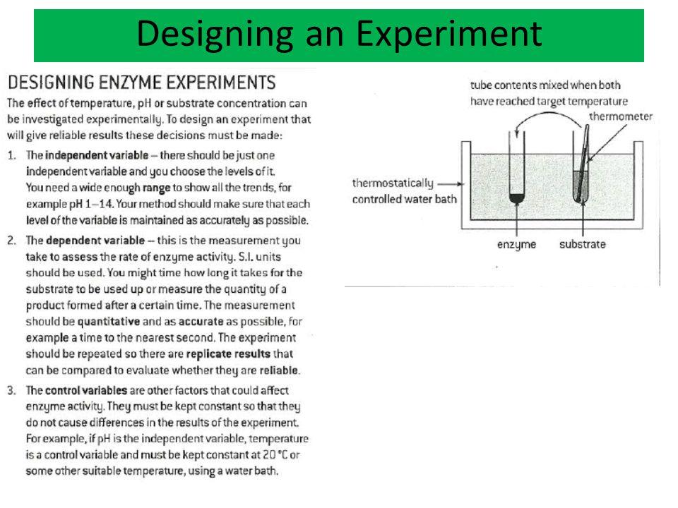 Designing an Experiment