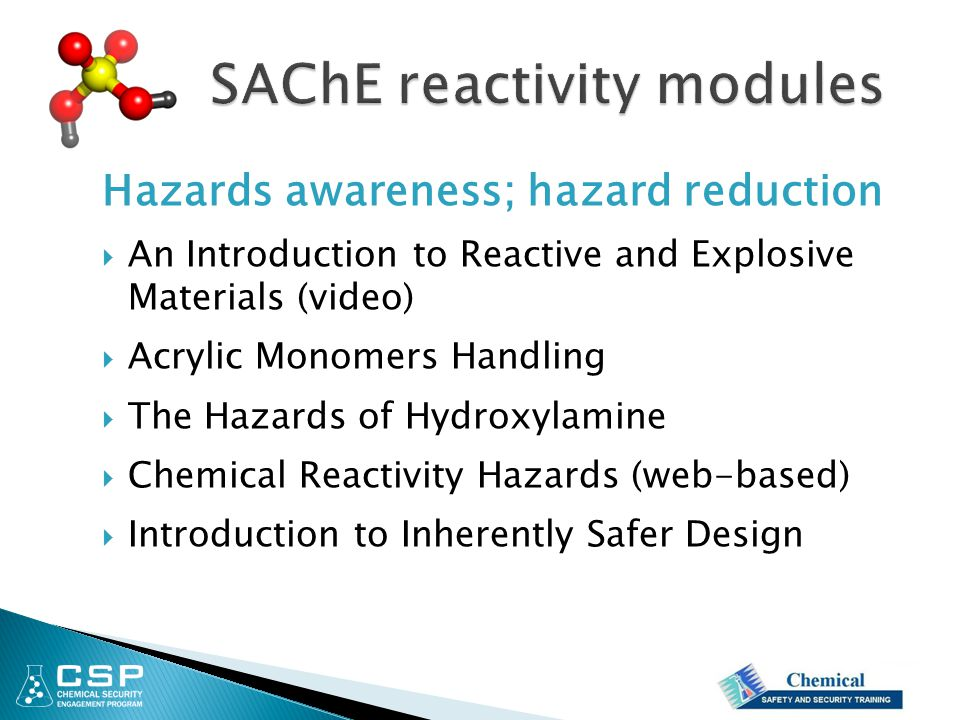 SAChE reactivity modules