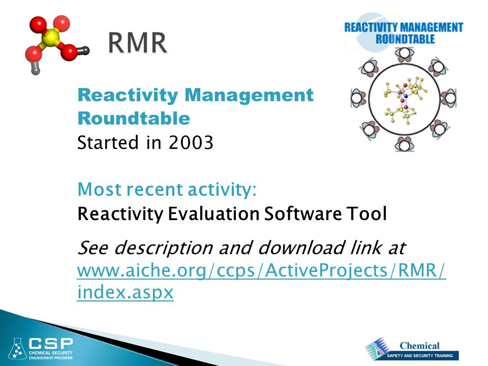 RMR Reactivity Management Roundtable Started in 2003