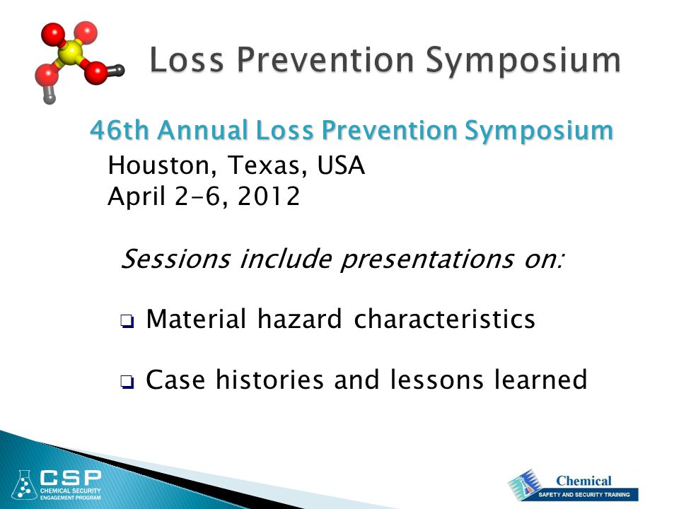 Loss Prevention Symposium