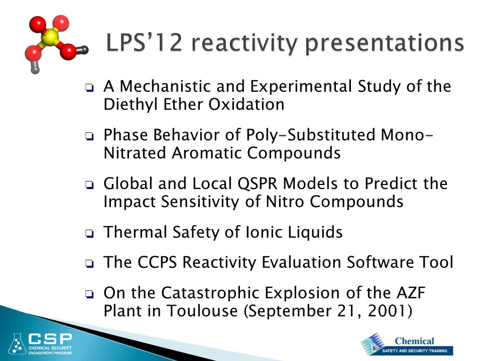 LPS'12 reactivity presentations