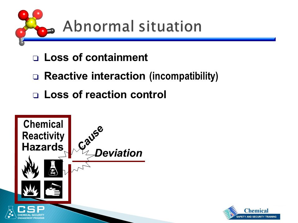 Abnormal situation Loss of containment