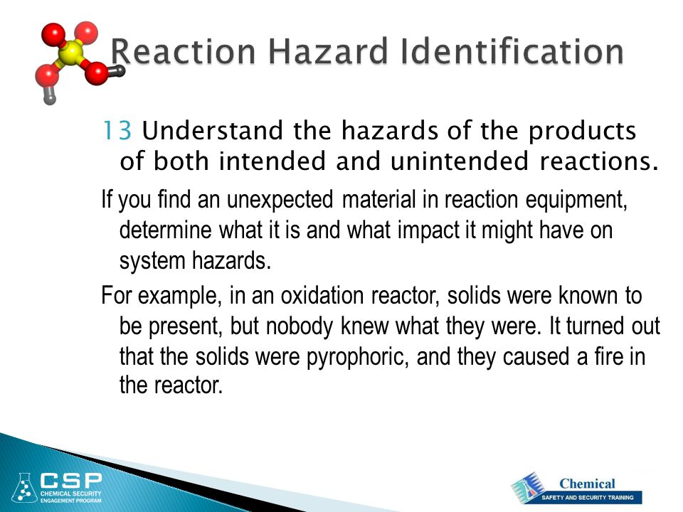 Reaction Hazard Identification