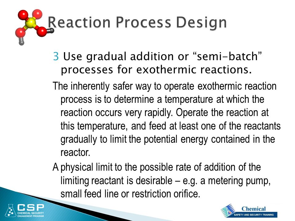 Reaction Process Design
