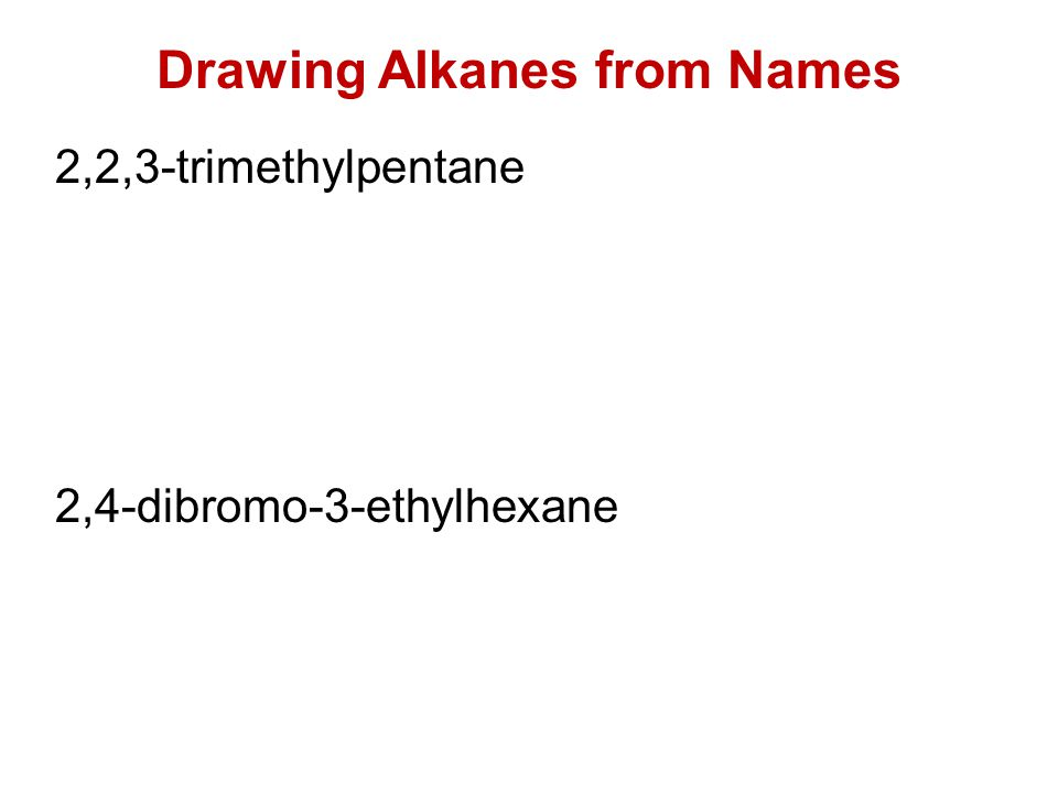 Drawing Alkanes from Names