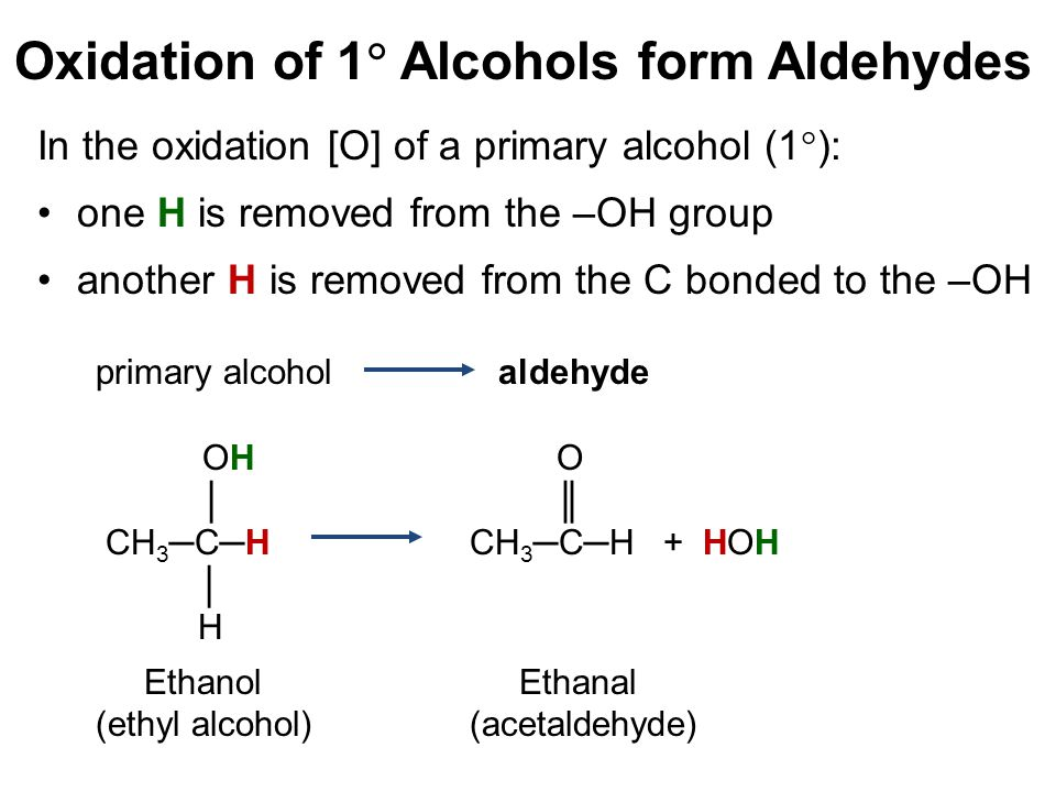 Oxidation of 1 Alcohols form Aldehydes