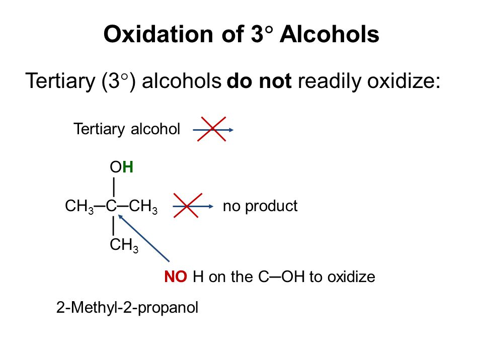 Oxidation of 3 Alcohols