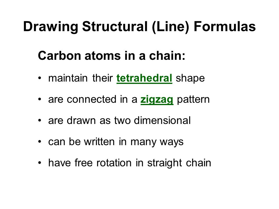 Drawing Structural (Line) Formulas