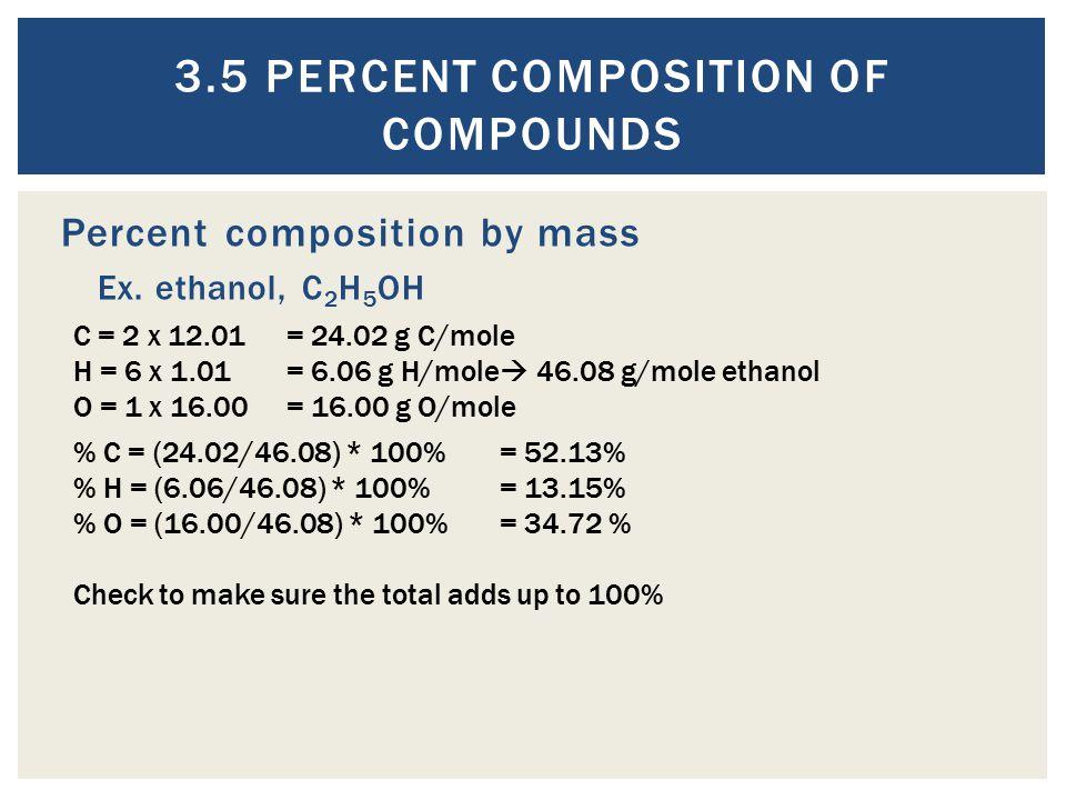 3.5 Percent Composition of Compounds