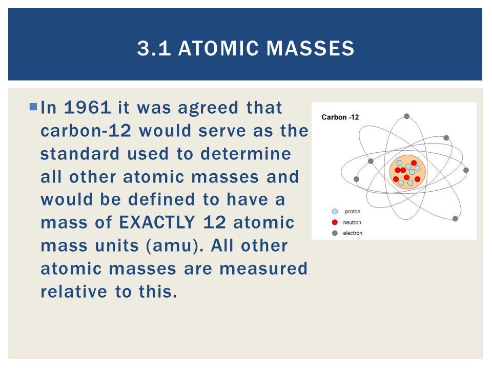 3.1 Atomic Masses