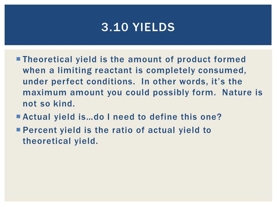 3.10 Yields