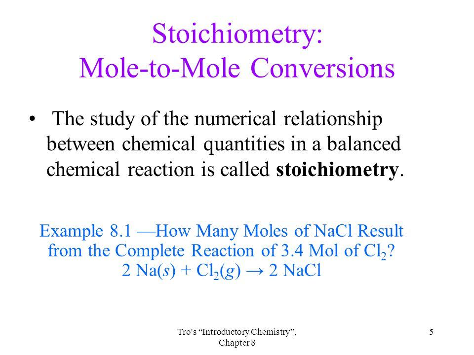 Stoichiometry: Mole-to-Mole Conversions
