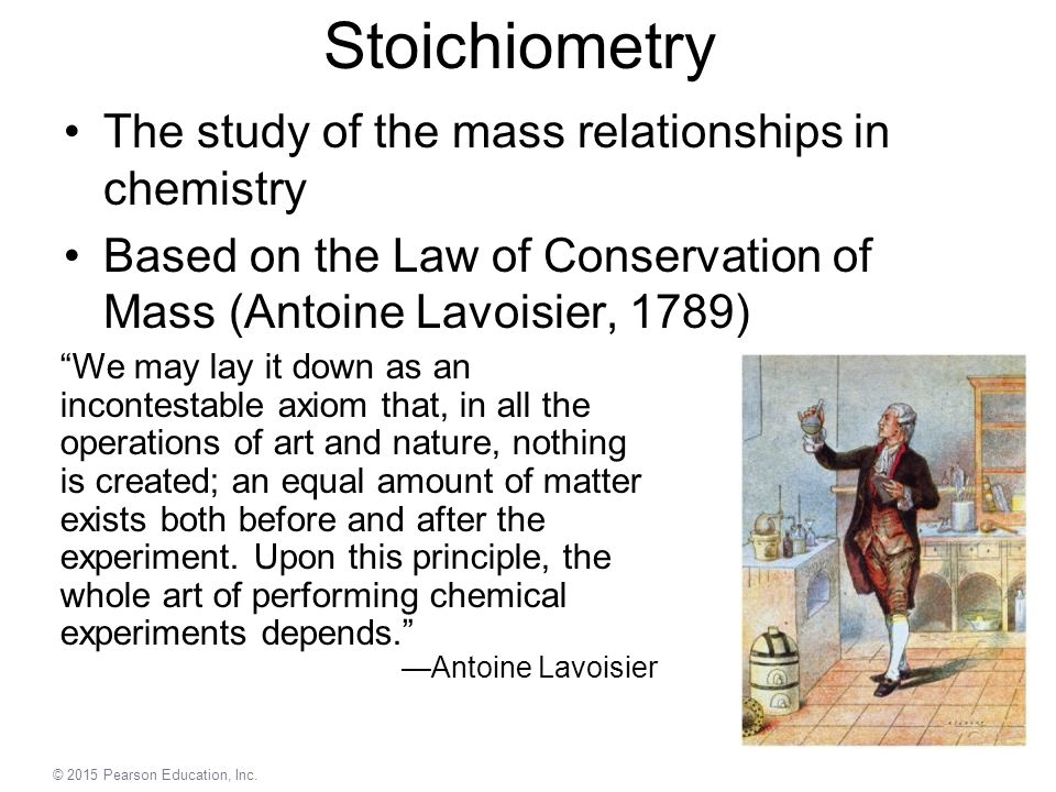 Stoichiometry The study of the mass relationships in chemistry