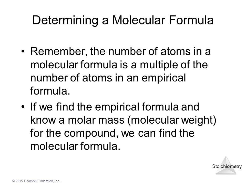 Determining a Molecular Formula