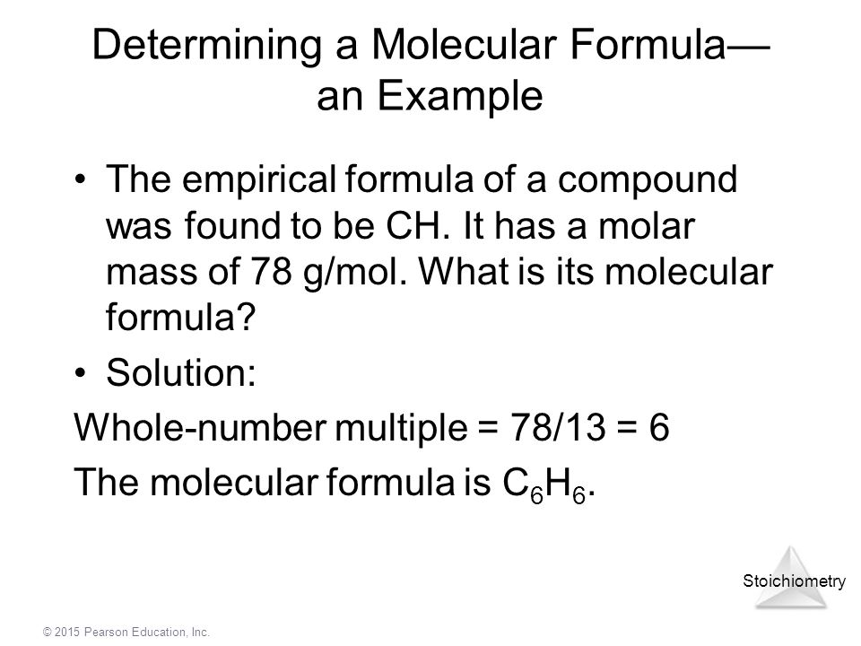 Determining a Molecular Formula— an Example