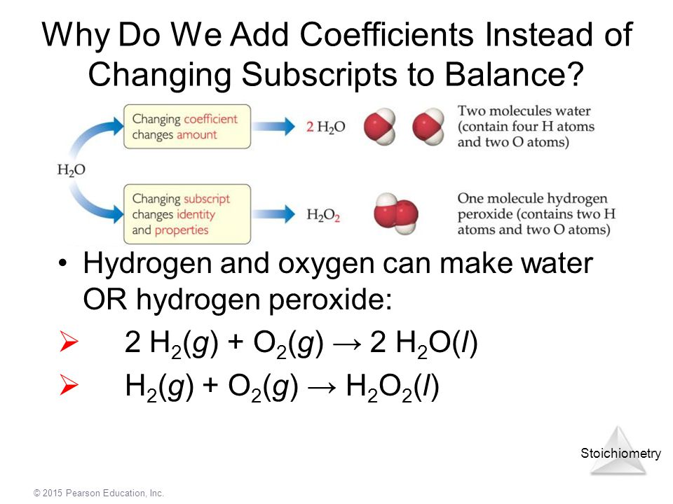 Why Do We Add Coefficients Instead of Changing Subscripts to Balance