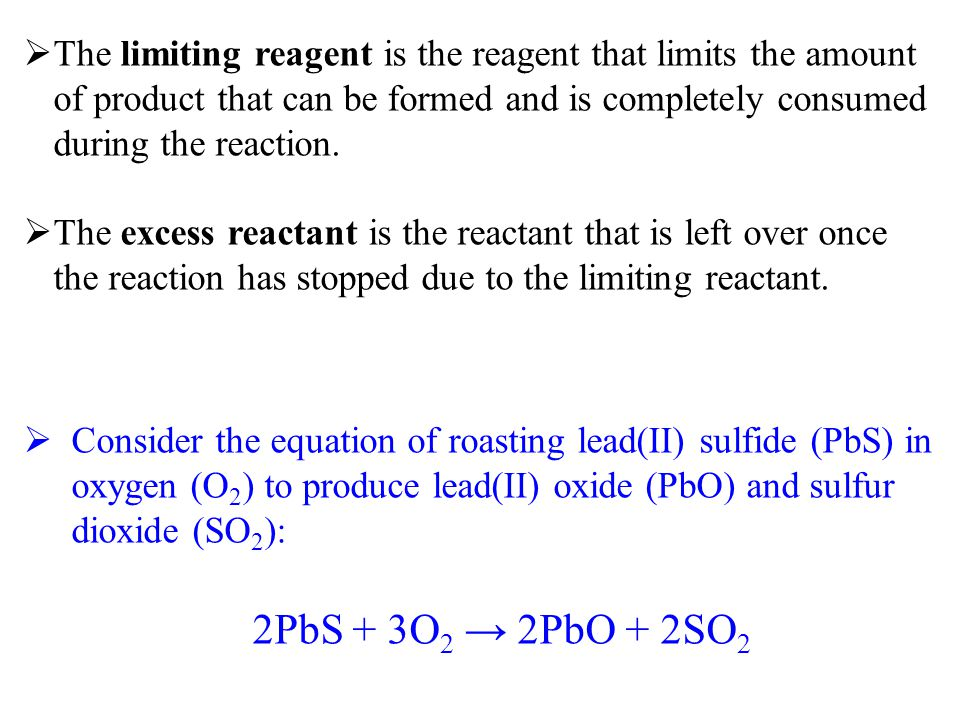 The limiting reagent is the reagent that limits the amount of product that can be formed and is completely consumed during the reaction.