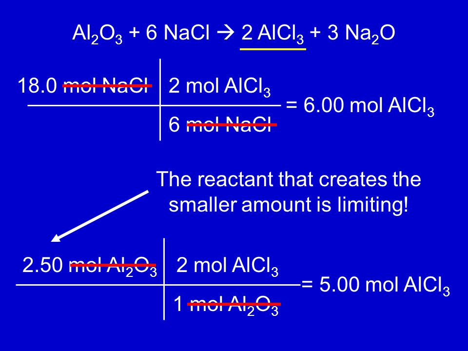 The reactant that creates the smaller amount is limiting!