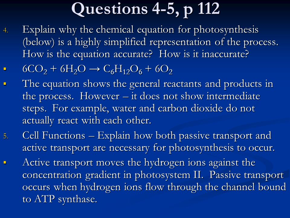 Questions 4-5, p 112